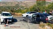 Փարպի գյուղի մոտ բախվել են Nissan-ն ու ВАЗ 21723-ը. վարորդները տեղափոխվել են հիվանդանոց