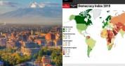 Հայաստանը EIU-ի «Ժողովրդավարության ինդեքս- 2019» զեկույցում զբաղեցրել է 86-րդ հորիզոնականը...
