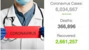 Աշխարհում կորոնավիրուսով վարակվածների թիվը գերազանցել է 6 միլիոնը