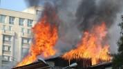 Հրդեհ Կոտայքի մարզում գտնվող կրակայրիչների արտադրամասում դեպքի վայր է մեկնել յոթ մարտական ...