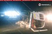Пассажирская маршрутка перевернулась в результате ДТП в Армении, много пострадавших