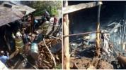 Ակունք գյուղում այրվել են հացատան տանիքի փայտյա կառուցատարրերը (լուսանկարներ)
