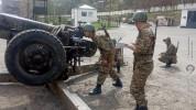 1-ին զորամիավորման ենթակայությամբ գործող հրետանային ստորաբաժանումների զինծառայողների ներգր...