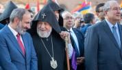 «Նոր Հայաստան՝ նոր հայրապետ» շարժման ակտիվիստները կրկին բողոքի ակցիա են իրականացրել` վեհափ...
