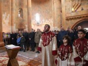 Ստեփանակերտի Մայր տաճարում Բակո Սահակյանը մասնակցել է Սուրբ Հարության պատարագին