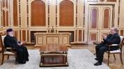 Նախագահ Արմեն Սարգսյանին ծննդյան օրվա առթիվ շնորհավորել է Ամենայն Հայոց Կաթողիկոսը