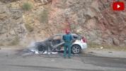 Տիգրանաշեն գյուղի մոտակայքում «Dodge Caliber» մակնիշի ավտոմեքենա է այրվել (լուսանկարներ, տ...