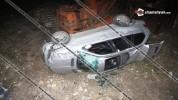 Աշտարակի խճուղում BMW-X5-ը բախվել է երկաթե ցանկապատին և բարձրությունից ընկել ու կողաշրջվել...