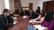 Մեսրոպ Առաքելյանը քննարկում է ունեցել Հայաստանում ՅՈՒՆԻՍԵՖ-ի ներկայացուցչի հետ