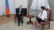 Փոխվարչապետի պաշտոնակատար Մհեր Գրիգորյանն ընդունել է Էստոնիայի դեսպանին