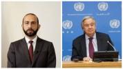 Միրզոյանն ու Գուտերեշը քննարկել են հայ-ադրբեջանական սահմանին տիրող իրավիճակը