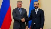 Արարատ Միրզոյանը հեռախոսազրույց է ունեցել ՌԴ Պետական դումայի նախագահ Վյաչեսլավ Վոլոդինի հե...