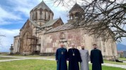 Արցախի թեմի առաջնորդն ու Պարգև արքեպիսկոպոսն այցելել են Գանձասարի վանական համալիր․ (լուսան...