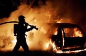 Իջևան քաղաքում ավտոմեքենա է այրվել