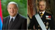 Արմեն Սարգսյանը շնորհավորական ուղերձ է հղել Շվեդիայի թագավոր Կարլ Գուստավ Տասնվեցերորդին