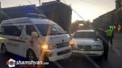 Վթար Երևանում. բախվել են հիվանդ տեղափոխող շտապօգնության մեքենան և Mercedes-ը