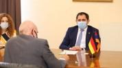 Սուրեն Պապիկյանը հանդիպել է Գերմանիայի արտակարգ և լիազոր դեսպան Միխայել Բանցհաֆին