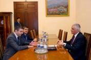 Փոխվարչապետ Մհեր Գրիգորյանն ընդունել է Արցախի Հանրապետության պետական նախարարին