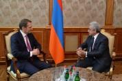 Սերժ Սարգսյանն ընդունել է ՌԴ Արտաքին հետախուզության ծառայության տնօրենին