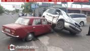 Ավտովթար Կոտայքի մարզում. բախվել են Mitsubishi-ն, Opel-ը և ՎԱԶ-2101-ը. Opel-ն էլ հայտնվել ...