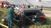 Երևան-Երասխ ճանապարհին Nissan Tiida-ն բախվել է Opel--ին, ապա գազատար խողովակին. 5 վիրավորն...
