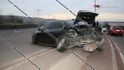 Ավտովթար Երևանում․ «Հաղթանակ» զբոսայգու մոտ բախվել են BMW-ն, Volkswagen Passat-ը և Nissan ...
