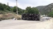 Հայ-իրանական սահման միջպետական նշանակության ավտոճանապարհին բեռնատար է կողաշրջվել (լուսանկա...