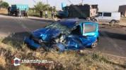 Արագածոտնի մարզում բախվել են Renault-ը և քարով բարձված ЗИЛ-ը. բժիշկները պայքարում են վիրավ...