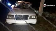 ՀՀ ՊՆ N զորամասի 36-ամյա ծառայողը Mercedes-ով բախվել է բետոնե էլեկտրասյանը