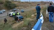 Ստեփանակերտ-Ասկերան ճանապարհին մարդատարը բախվել է համընթաց մեքենային, այնուհետ արգելապատնե...