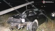 Խոշոր ավտովթար Կոտայքի մարզում. 44–ամյա վարորդը Volkswagen Golf-ով տապալել է բետոնե էլեկտր...