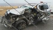 Խոշոր ավտովթար Արագածոտնի մարզում. բախվել են Toyota Land Cruiser–ն ու քարով բարձված ЗИЛ-ը....
