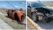 Երևան-Գյումրի ավտոճանապարհին Toyota Camry-ն բախվել է ВАЗ 2105-ին. կան վիրավորներ